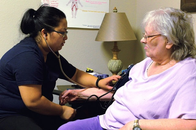 Blood pressure check at the Wellness Clinic