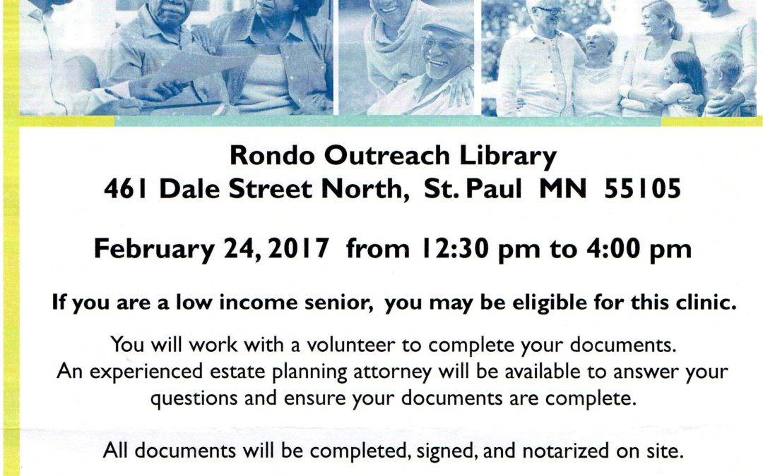 Free Legal Clinic for Seniors at the Rondo Library