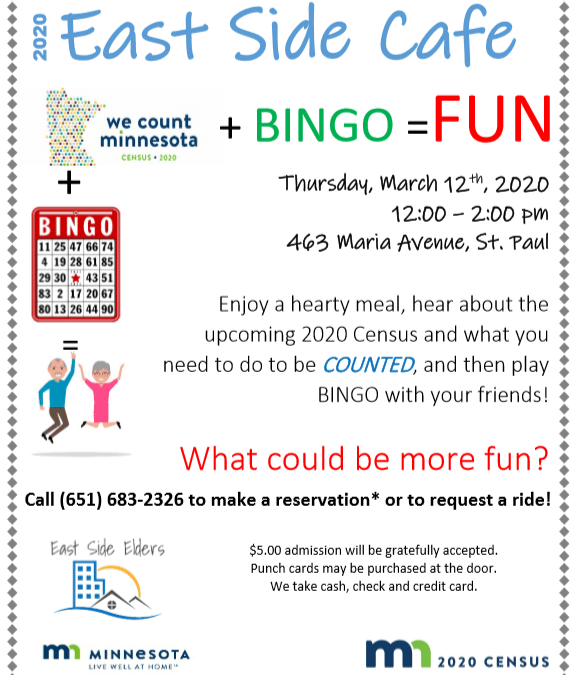 March Cafe: Census and Bingo!