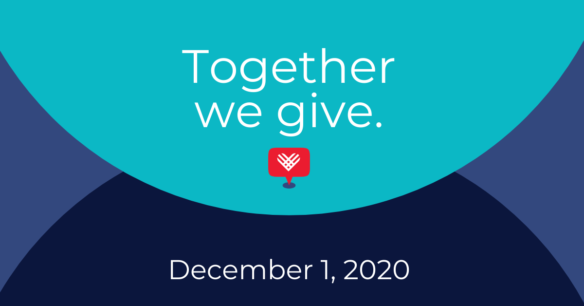 Graphic reads: together we give. December 1, 2020