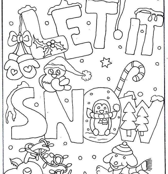 Free Holiday Coloring Book