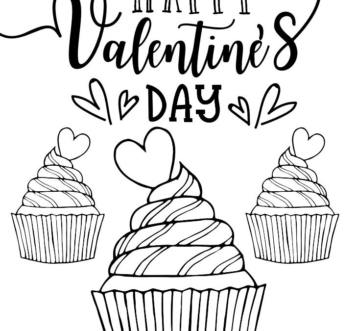 Valentine's Day Printable Coloring Book