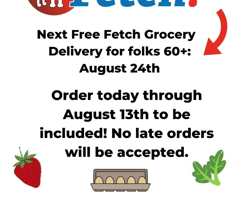 Free Groceries for Folks 60+ on August 24th