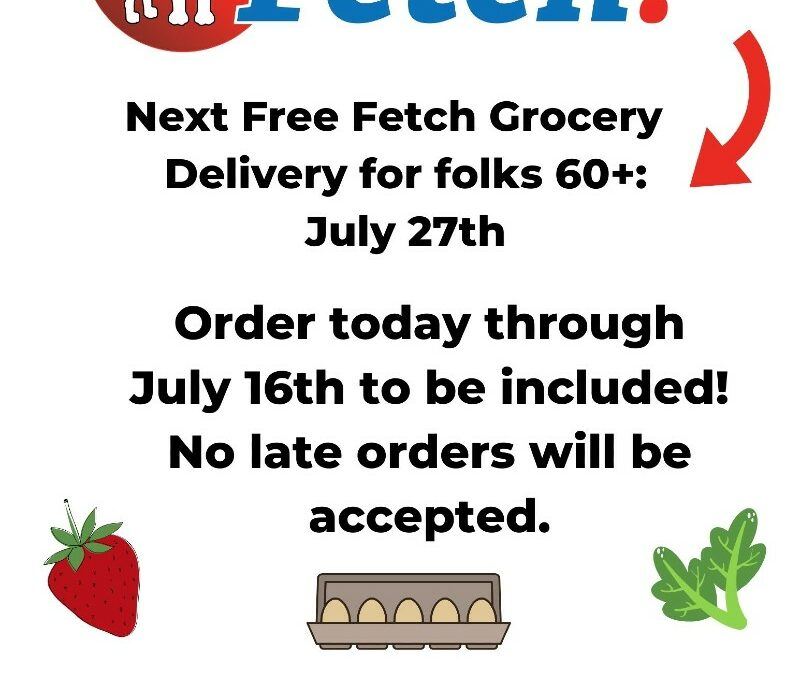 Free Groceries for Seniors on July 27th